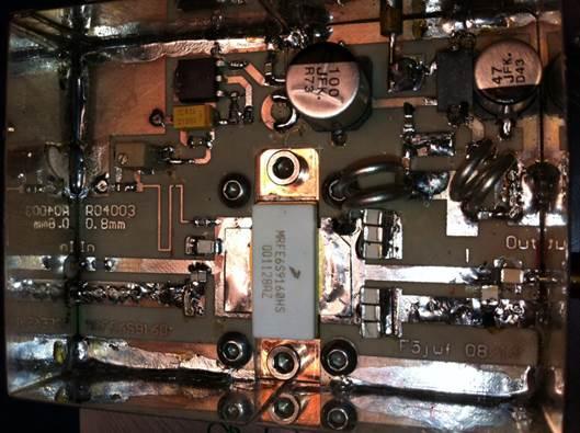 PA 23cm 500W 4x MRFE6S 9160